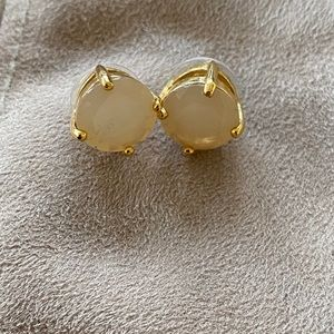 Gold and Pink Gem Studs